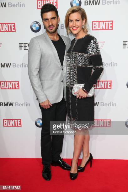 Wolke Hegenbarth and her boyfriend Oliver during the BUNTE BMW Festival Night during the 67th Berlinale International Film Festival Berlin at...