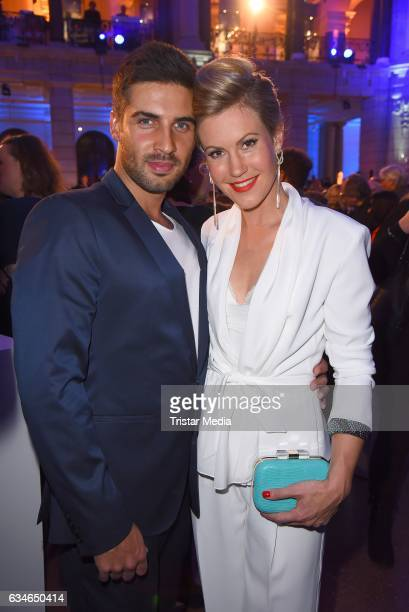 Wolke Hegenbarth and her boyfriend Oliver Vaid attend the Blue Hour Reception hosted by ARD during the 67th Berlinale International Film Festival...
