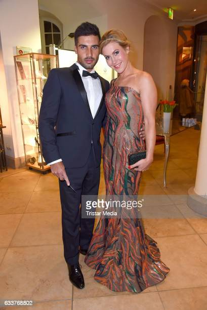 Wolke Hegenbarth and her boyfriend Oliver Vaid during the Semper Opera Ball 2017 at Semperoper on February 3 2017 in Dresden Germany