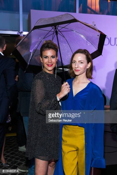 Wolke Hegenbarth and Katharina Schuettler attend the summer party 2017 of the German Producers Alliance on July 12 2017 in Berlin Germany