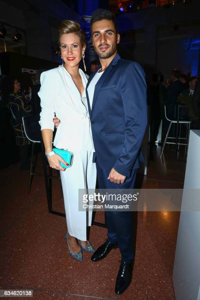 Wolke Hegenbarth and Oliver attend the Blue Hour Reception hosted by ARD during the 67th Berlinale International Film Festival Berlin on February 10...