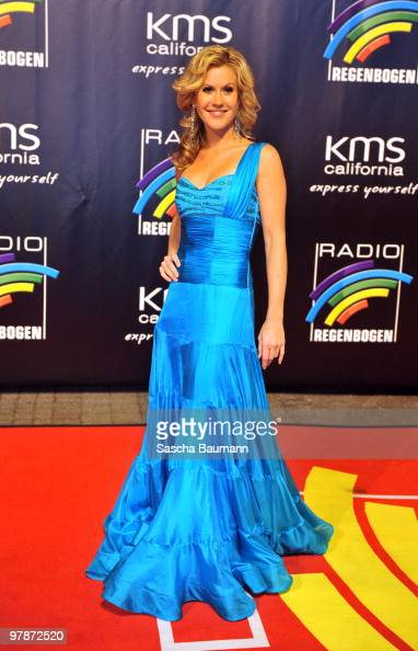 Wolke Hegenbarth arrives for the Radio Regenbogen Award at the Schwarzwaldhalle on March 19 2010 in Karlsruhe Germany