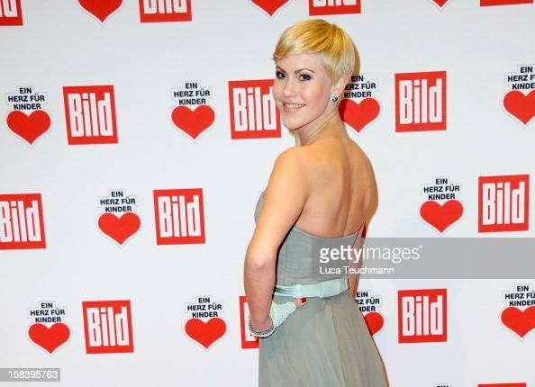 Wolke Hegenbarth attends 'Ein Herz Fuer Kinder Gala 2012' Red Carpet Arrivals at Axel Springer Haus on December 15 2012 in Berlin Germany