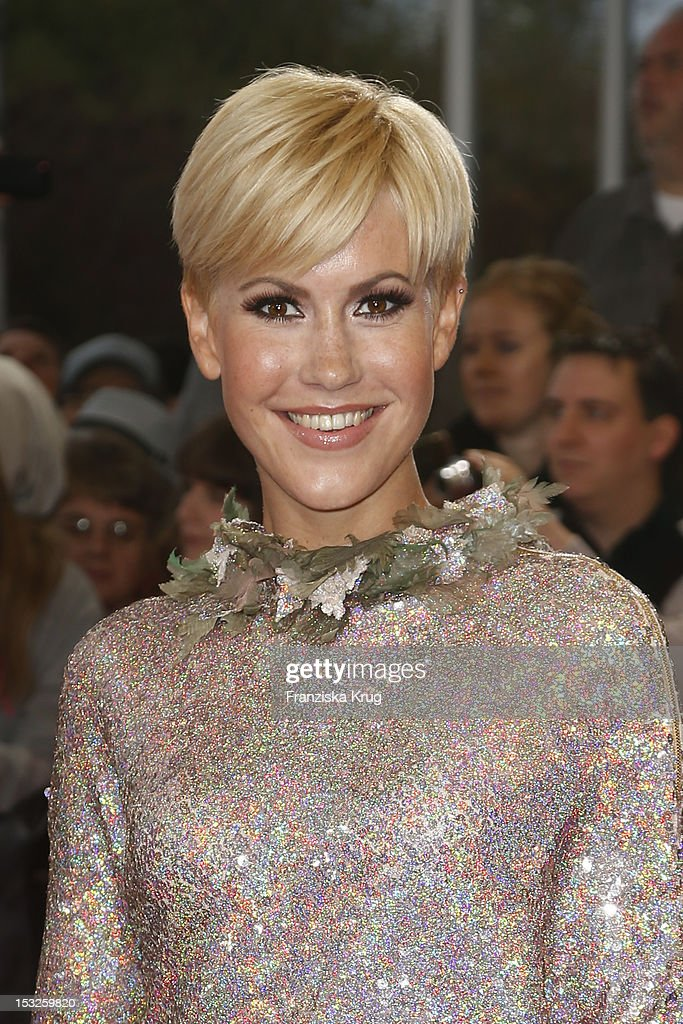 Wolke Hegenbarth attends the German TV Awards 2012 at Coloneum on October 2 2012 in Cologne Germany
