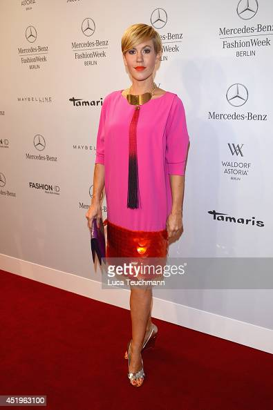Wolke Hegenbarth attends the Laurel show during the MercedesBenz Fashion Week Spring/Summer 2015 at Erika Hess Eisstadion on July 10 2014 in Berlin...