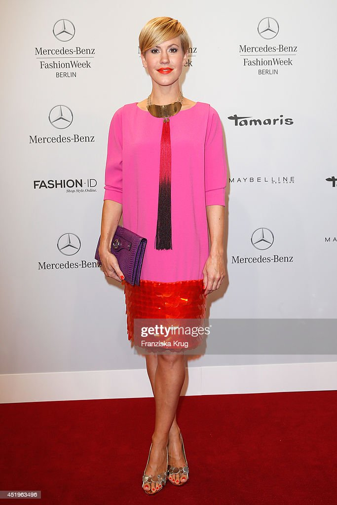 Wolke Hegenbarth attends the Laurel show during the MercedesBenz Fashion Week Spring/Summer 2015 at Erika Hess Eisstadion on July 10 2014 in Berlin...