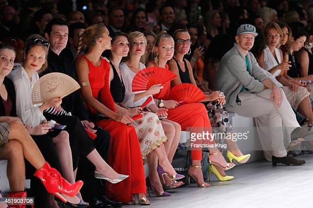Wolke Hegenbarth Natascha Ochsenknecht and Cheyenne Ochsenknecht attend the Minx by Eva Lutz show during the MercedesBenz Fashion Week Spring/Summer...