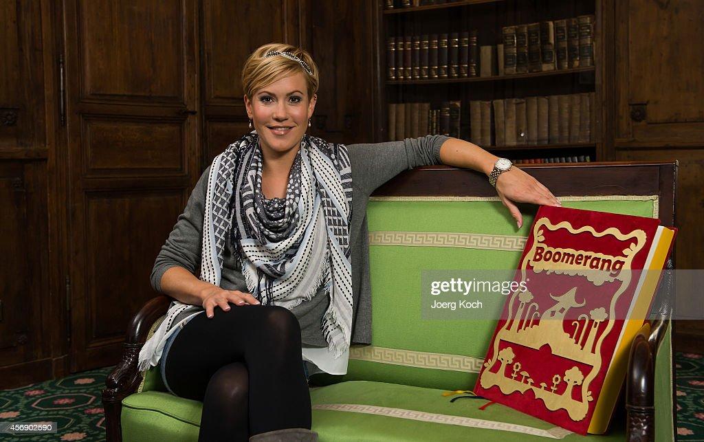 Wolke Hegenbarth presents her new TV show 'Boomerang Maerchenstunde' at Bayerischer Hof on October 6 2014 in Munich Germany