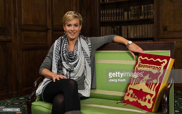 Wolke Hegenbarth presents her new TV show 'Boomerang Maerchenstunde' at Bayerischer Hof on October 6 2014 in Munich Germany