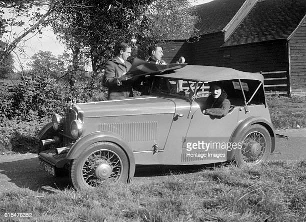 Wolseley Hornet taking part in the Bugatti Owners Club car treasure hunt 25 October 1931 Wolseley Hornet 1271 cc Vehicle Reg No GO6468 Place Barnett...