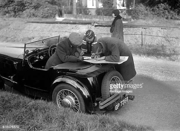 Wolseley Hornet taking part in the Bugatti Owners Club car treasure hunt 25 October 1931 Wolseley Hornet 1271 cc Vehicle Reg No GP7368 Place Bugatti...