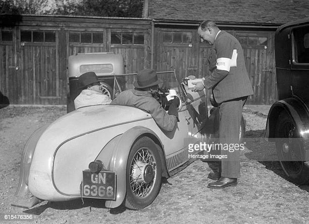 Wolseley Hornet with Swallow body at the Bugatti Owners Club car treasure hunt 25 October 1931 Wolseley Hornet 1271 cc Vehicle Reg No GN6368 Swallow...