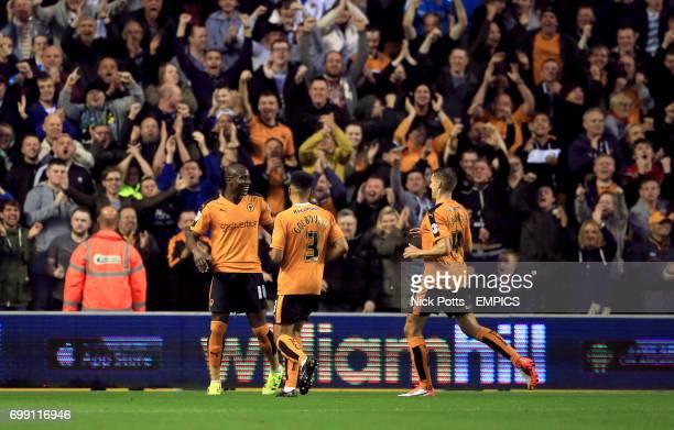 Wolverhampton Wanderers' Benik Afobe celebrates scoring his side's first goal of the game