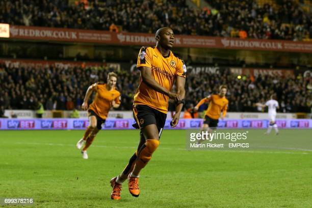 Wolverhampton Wanderers' Benik Afobe celebrates scoring their first goal of the game
