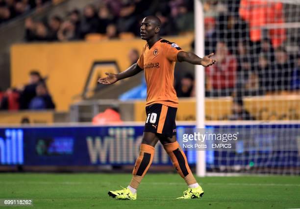 Wolverhampton Wanderers' Benik Afobe reacts