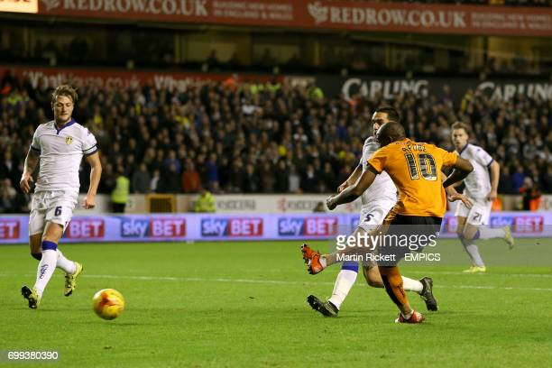 Wolverhampton Wanderers' Benik Afobe scores their first goal of the game