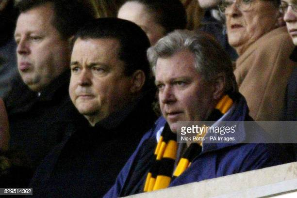 Wolverhampton Wanderers chairman Rick Hayward and chief executive Jez Moxey watch on