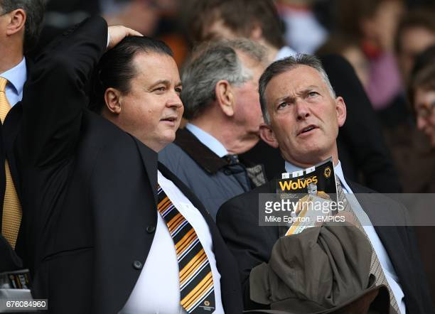 Wolverhampton Wanderers' Chief Executive Jez Moxey and Chief Executive of the Premier League Richard Scudamore in the stands