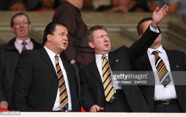 Wolverhampton Wanderers Chief Executive Jez Moxey and Director John Bowater in the stands