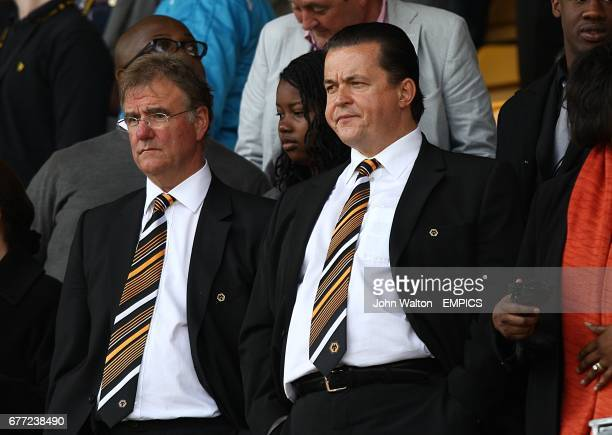 Wolverhampton Wanderers' Chief Executive Jez Moxey and director John Gough in the stands