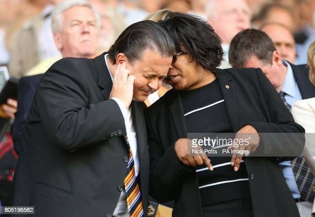 Wolverhampton Wanderers' Chief Executive Jez Moxey in the stands prior to kick off