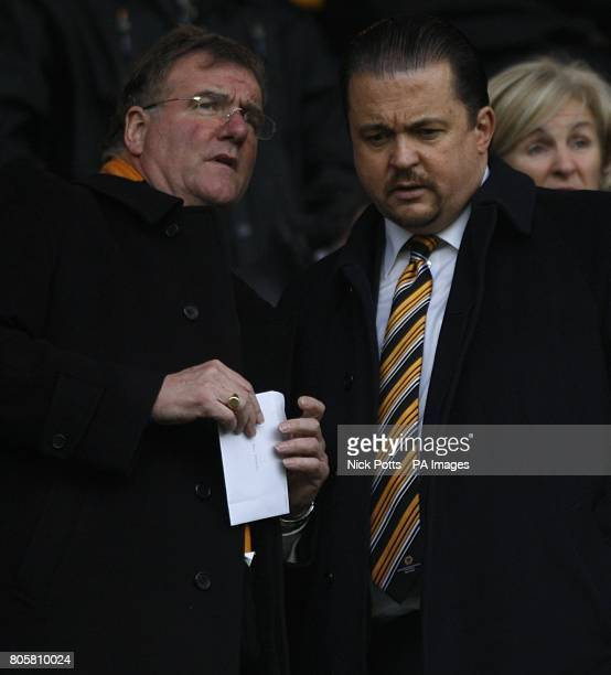 Wolverhampton Wanderers' Chief Executive Jez Moxey John Gough one of the team's directors in the stands