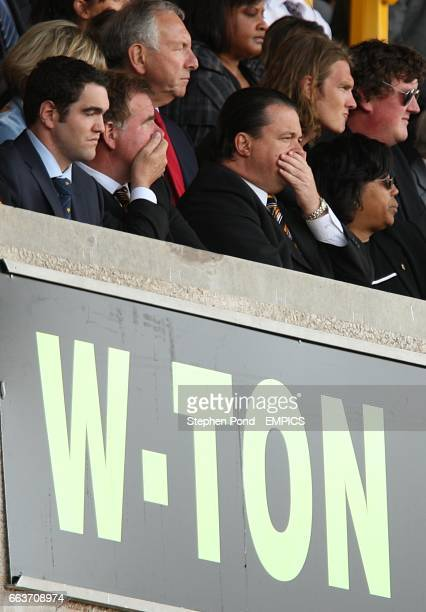 Wolverhampton Wanderers Chief Executive Jez Moxey puts his hand over his mouth in the stands