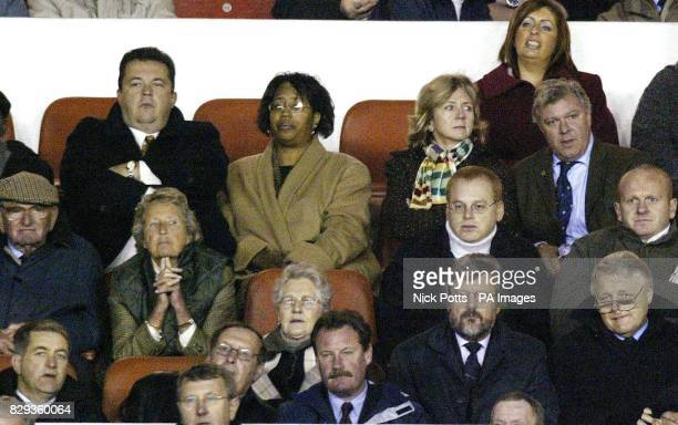 Wolverhampton Wanderers' chief executive Jez Moxey watches from the stands with chairman Rick Hayward during the CocaCola Championship match against...