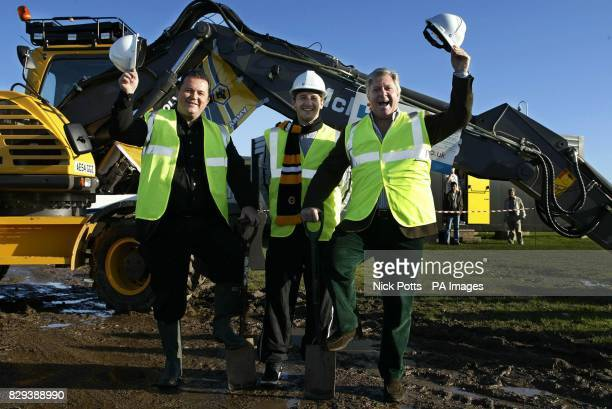 Wolverhampton Wanderers chief Executive Jez Moxey with Lee Naylor and Chairman Rick Hayward At the site of Wolves' Compton training ground...