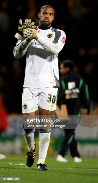 Wolverhampton Wanderers goal keeper Carl Ikeme appears dejected following the CocaCola Championship match at Carrow Road Norwich