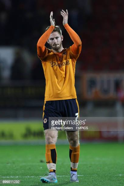 Wolverhampton Wanderers' James Henry applauds the fans after the final whistle