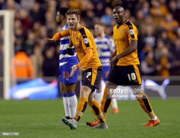 Wolverhampton Wanderers' James Henry celebrates after he scores his sides first goal