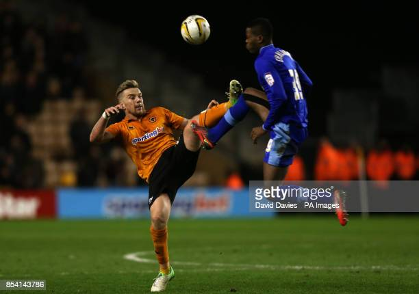 Wolverhampton Wanderers' Jamie O'Hara challenges Watford's Nathaniel Chalobah during the npower Football League Championship match at Molineux...