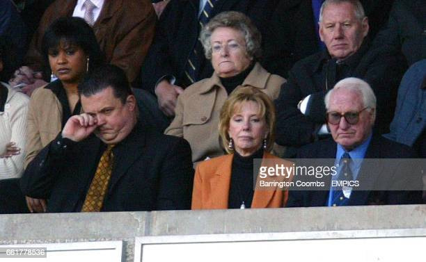 Wolverhampton Wanderers' Jez Moxey and Sir Jack Hayward look unhappy during the game against Watford
