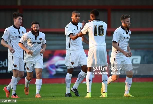 Wolverhampton Wanderers' Leon Clarke celebrates his goal