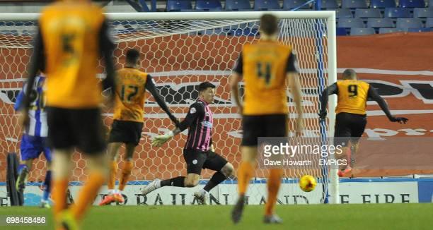Wolverhampton Wanderers' Leon Clarke pounces to score his team's winning goal