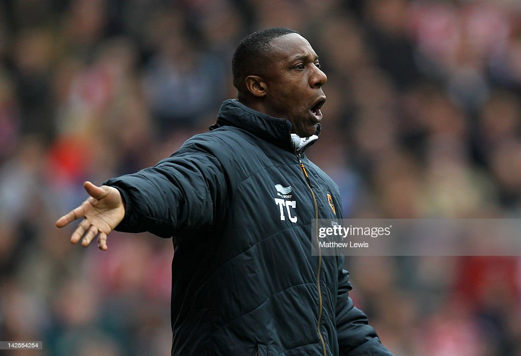 Wolverhampton Wanderers Manager Terry Connor reacts during the Barclays Premier League match between Stoke City and Wolverhampton Wanderers at the Britannia Stadium on April 7, 2012 in Stoke on Trent, England.