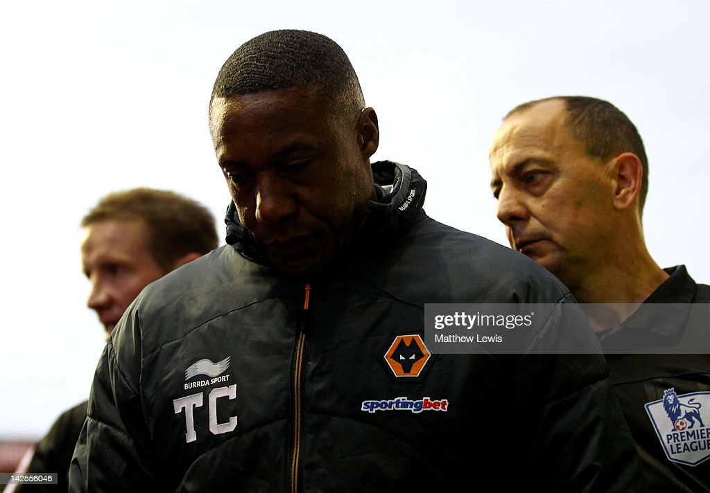 Wolverhampton Wanderers Manager Terry Connor walks off at the end of the Barclays Premier League match between Stoke City and Wolverhampton Wanderers at the Britannia Stadium on April 7, 2012 in Stoke on Trent, England.