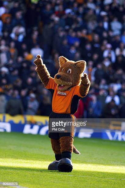Wolverhampton Wanderers mascot Wolfie during the FA Barclaycard Premiership match between Wolverhampton Wanderers and Arsenal at Molineux on February...