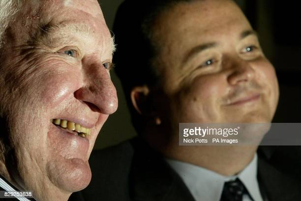 Wolverhampton Wanderers' owner and chairman Sir Jack Hayward talks to the media with his Chief Executive Jez Moxey at press confrence at Molineux...