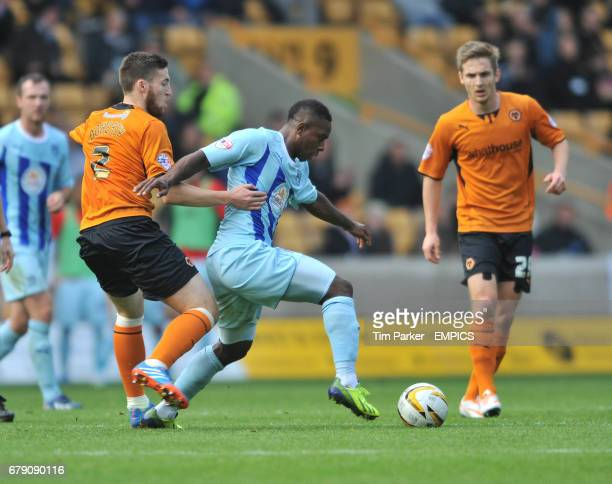 Wolverhampton Wanderers's Matt Doherty and Coventry City's Conor Thomas challenge for the ball