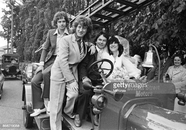 Wolverhampton's famous pop group Slade were guests at the wedding of Eileen Delahay and Ian Newnham The firetruck an ancient vehicle of Bristol...
