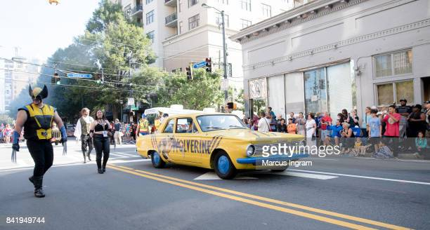Wolverines cosplay at 2017 DragonCon Parade on September 2 2017 in Atlanta Georgia DragonCon is a multimedia convention held annually over Labor Day...