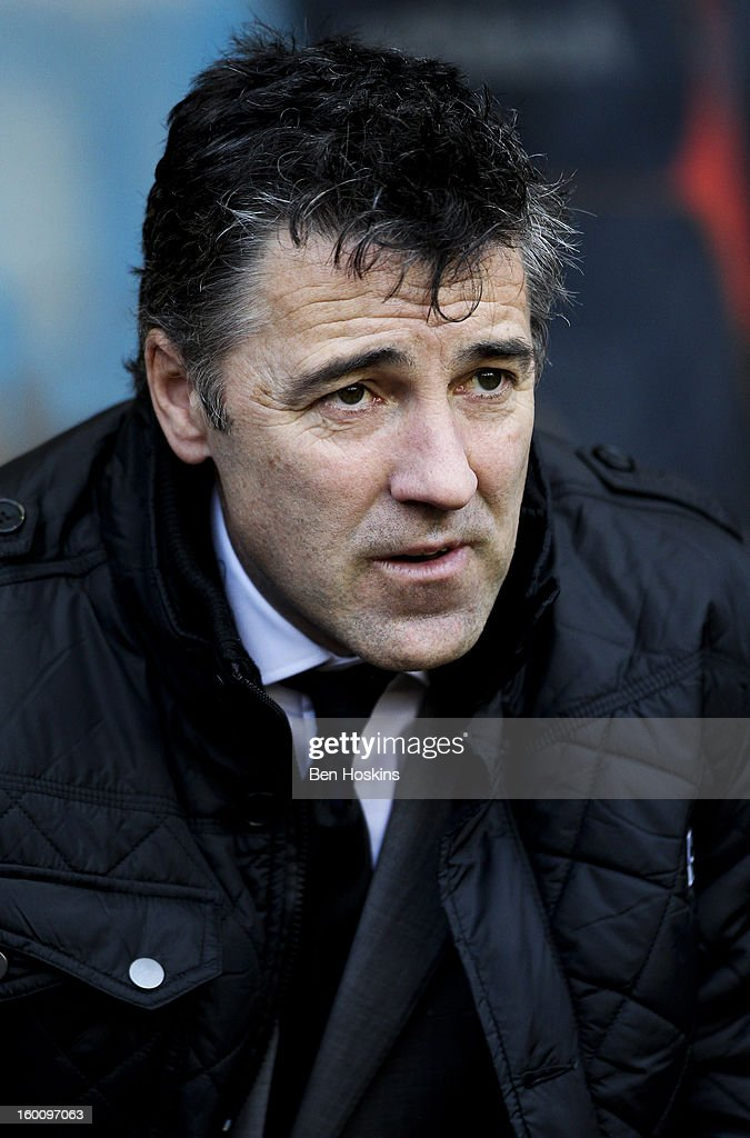 Wolves manager Dean Saunders looks on prior to the npower Championship match between Wolverhampton Wanderers and Blackpool at Molineux on January 24, 2013 in Wolverhampton, England.