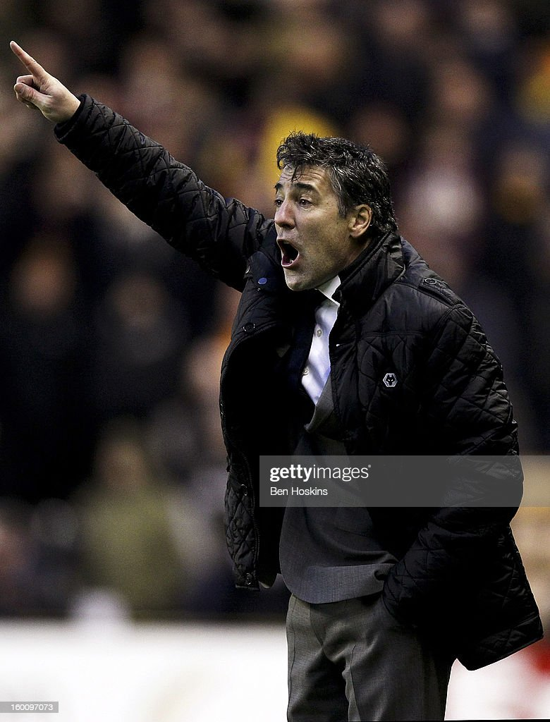 Wolves manager Dean Saunders shouts instructions during the npower Championship match between Wolverhampton Wanderers and Blackpool at Molineux on January 24, 2013 in Wolverhampton, England.