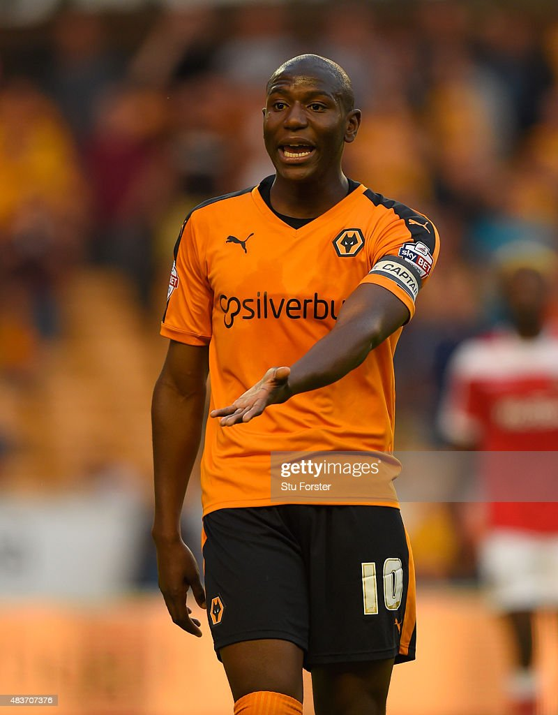Wolves player Benik Afobe reacts during the Capital One Cup First Round match between Wolverhampton Wanderers and Newport County at Molineux on...