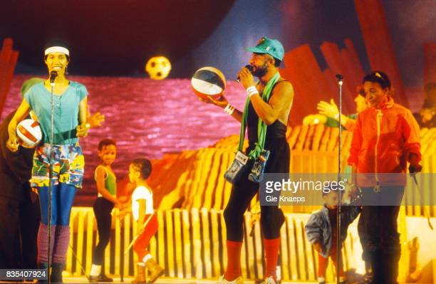 Womack and Womack Cecil and Linda Womack and their children Diamond Awards Festival Sportpaleis Antwerp Belgium