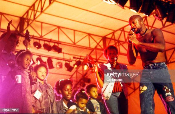 Womack and Womack Cecil Womack with his children Marktrock Leuven Festival Leuven Belgium