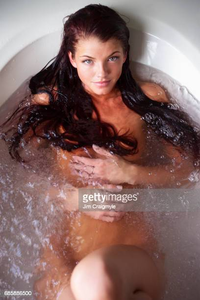 Woman 20's taking a bath