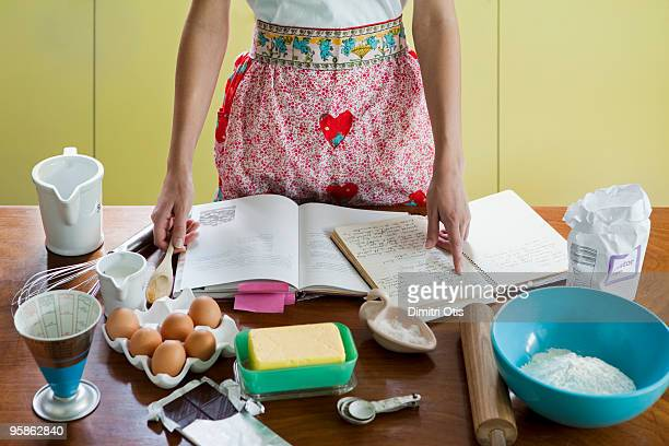 Woman about to bake a cake